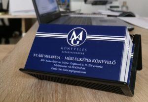 MG könyvelés névjegykártya